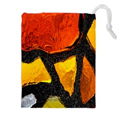Colorful Glass Mosaic Art And Abstract Wall Background Drawstring Pouches (xxl)
