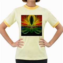 Future Abstract Desktop Wallpaper Women s Fitted Ringer T-Shirts