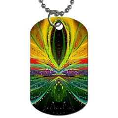 Future Abstract Desktop Wallpaper Dog Tag (two Sides)