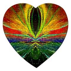 Future Abstract Desktop Wallpaper Jigsaw Puzzle (Heart)