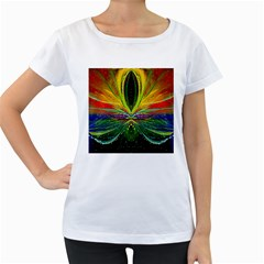 Future Abstract Desktop Wallpaper Women s Loose Fit T Shirt (white)