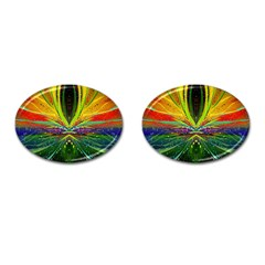 Future Abstract Desktop Wallpaper Cufflinks (oval)