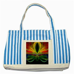 Future Abstract Desktop Wallpaper Striped Blue Tote Bag
