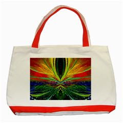 Future Abstract Desktop Wallpaper Classic Tote Bag (Red)