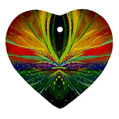 Future Abstract Desktop Wallpaper Heart Ornament (two Sides)