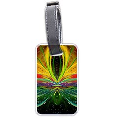 Future Abstract Desktop Wallpaper Luggage Tags (one Side)