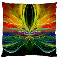 Future Abstract Desktop Wallpaper Large Cushion Case (two Sides)