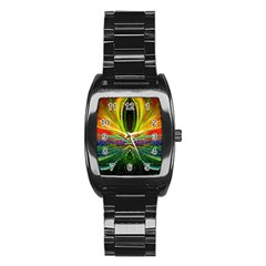 Future Abstract Desktop Wallpaper Stainless Steel Barrel Watch