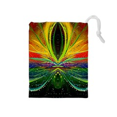 Future Abstract Desktop Wallpaper Drawstring Pouches (medium)