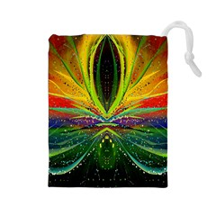 Future Abstract Desktop Wallpaper Drawstring Pouches (large)