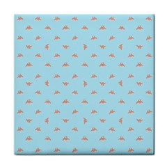 Spaceship Cartoon Pattern Drawing Tile Coasters