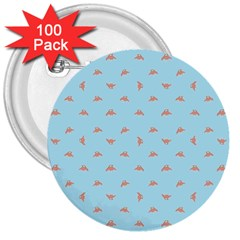Spaceship Cartoon Pattern Drawing 3  Buttons (100 pack)