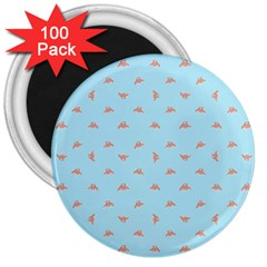 Spaceship Cartoon Pattern Drawing 3  Magnets (100 pack)