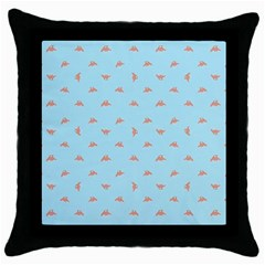 Spaceship Cartoon Pattern Drawing Throw Pillow Case (Black)