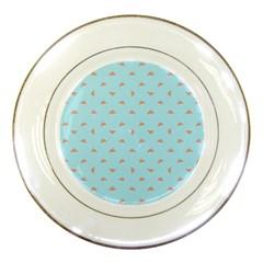 Spaceship Cartoon Pattern Drawing Porcelain Plates