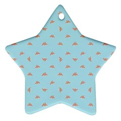 Spaceship Cartoon Pattern Drawing Star Ornament (Two Sides)