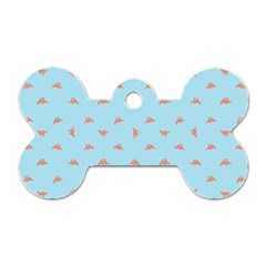 Spaceship Cartoon Pattern Drawing Dog Tag Bone (Two Sides)