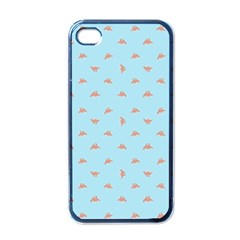 Spaceship Cartoon Pattern Drawing Apple iPhone 4 Case (Black)