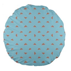 Spaceship Cartoon Pattern Drawing Large 18  Premium Round Cushions