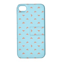 Spaceship Cartoon Pattern Drawing Apple iPhone 4/4S Hardshell Case with Stand