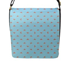 Spaceship Cartoon Pattern Drawing Flap Messenger Bag (L)