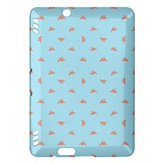 Spaceship Cartoon Pattern Drawing Kindle Fire HDX Hardshell Case