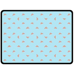 Spaceship Cartoon Pattern Drawing Double Sided Fleece Blanket (Large)