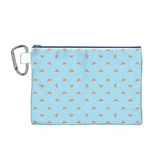 Spaceship Cartoon Pattern Drawing Canvas Cosmetic Bag (M)
