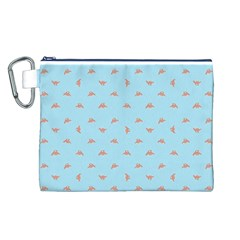 Spaceship Cartoon Pattern Drawing Canvas Cosmetic Bag (L)
