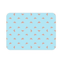 Spaceship Cartoon Pattern Drawing Double Sided Flano Blanket (Mini)