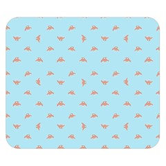 Spaceship Cartoon Pattern Drawing Double Sided Flano Blanket (Small)