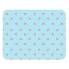 Spaceship Cartoon Pattern Drawing Double Sided Flano Blanket (Large)