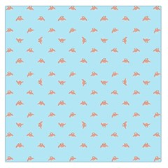 Spaceship Cartoon Pattern Drawing Large Satin Scarf (Square)