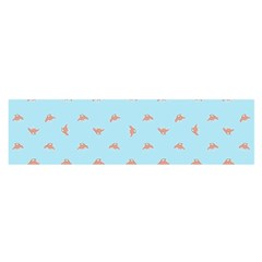 Spaceship Cartoon Pattern Drawing Satin Scarf (Oblong)