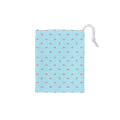 Spaceship Cartoon Pattern Drawing Drawstring Pouches (XS)