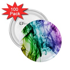 Colour Smoke Rainbow Color Design 2.25  Buttons (100 pack)
