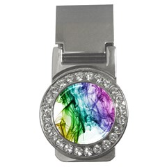 Colour Smoke Rainbow Color Design Money Clips (cz)