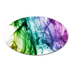 Colour Smoke Rainbow Color Design Oval Magnet