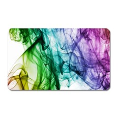 Colour Smoke Rainbow Color Design Magnet (rectangular)