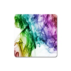 Colour Smoke Rainbow Color Design Square Magnet