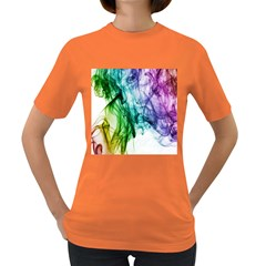 Colour Smoke Rainbow Color Design Women s Dark T Shirt