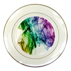 Colour Smoke Rainbow Color Design Porcelain Plates