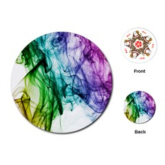Colour Smoke Rainbow Color Design Playing Cards (Round)