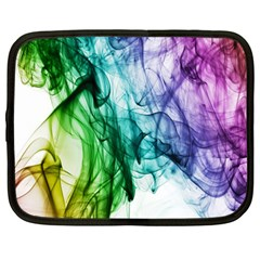 Colour Smoke Rainbow Color Design Netbook Case (Large)