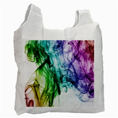 Colour Smoke Rainbow Color Design Recycle Bag (Two Side)