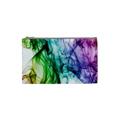 Colour Smoke Rainbow Color Design Cosmetic Bag (small)