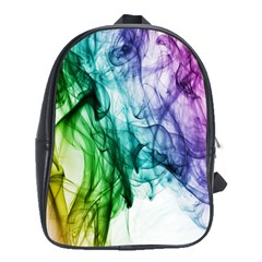 Colour Smoke Rainbow Color Design School Bags(large)