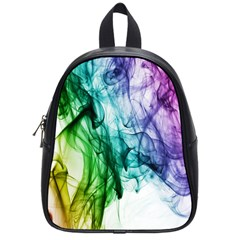 Colour Smoke Rainbow Color Design School Bags (small)