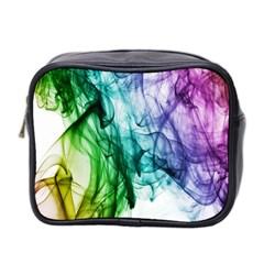 Colour Smoke Rainbow Color Design Mini Toiletries Bag 2-Side