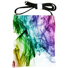 Colour Smoke Rainbow Color Design Shoulder Sling Bags